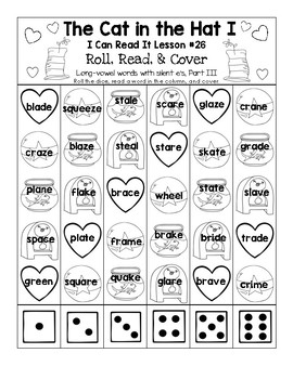 The Cat in the Hat - I Can Read It! Roll, Read, and Cover (Lesson 26)