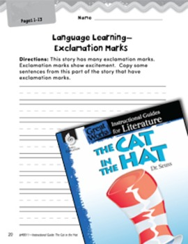 The Cat in the Hat Language Learning Activities