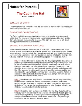 The Cat in the Hat Parent Notes