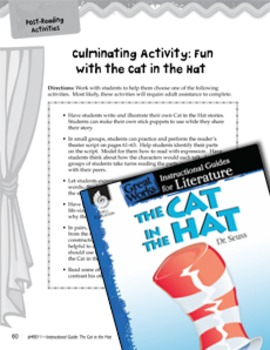 The Cat in the Hat Post-Reading Activities