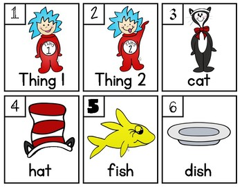 The Cat in the Hat Write the Room - Dr. Seuss - Read Across America Week