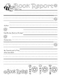 Spring Book Report Worksheet : Lined Handwriting Paper : Generic Book