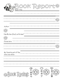 Spring Book Report Worksheet : Lined Handwriting Paper : G