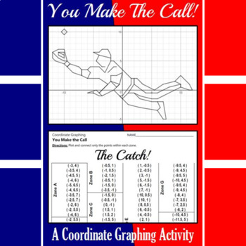 The Catch - A Baseball Coordinate Graphing Activity