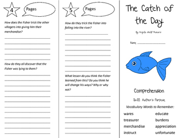 The Catch of the Day Trifold - California Treasures 5th Grade Unit 3 Week 1