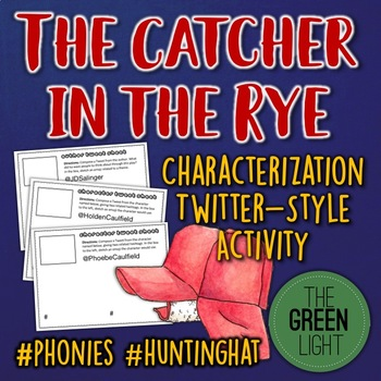 The Catcher in the Rye Characterization Activity: Bell-Ringers, Task Cards