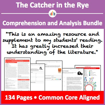 The Catcher in the Rye – Comprehension and Analysis Bundle