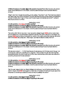 The Catcher in the Rye Critical Thinking Reading Quizzes
