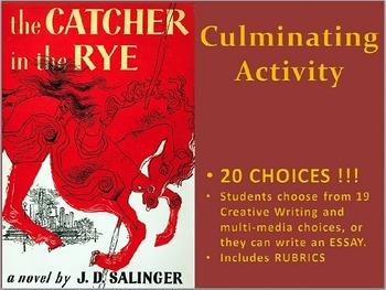 The Catcher in the Rye: Culminating Activities Portfolio / Scrapbook, and Essay