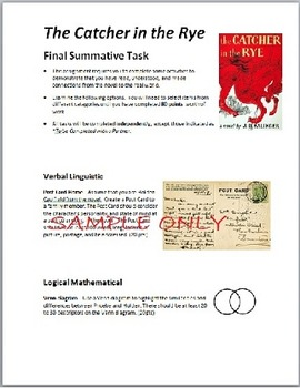 The Catcher in the Rye: Culminating Activities Portfolio / Scrapbook, and Essay
