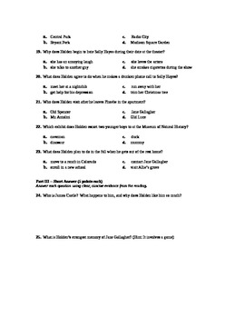 The Catcher in the Rye Final Exam