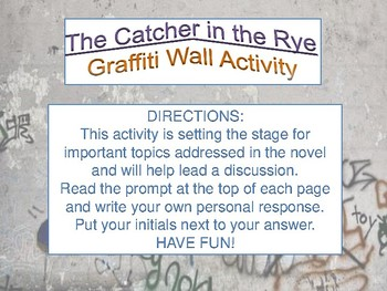 The Catcher in the Rye - Graffiti Wall