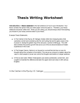 The Catcher in the Rye Guided Essay Packet