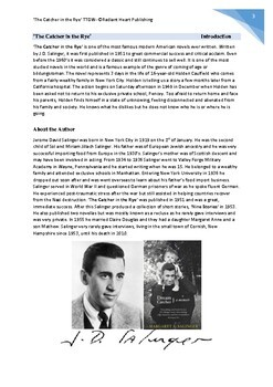 The Catcher in the Rye-J.D.Salinger Teacher Text Guide and Worksheets