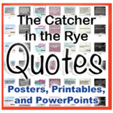 The Catcher in the Rye Novel Quotes Posters and Powerpoints