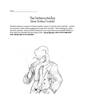 The Catcher in the Rye PreReading Image