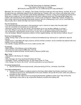 The Catcher in the Rye Unit Plan (Understanding by Design)