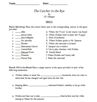 The Catcher in the Rye Unit Tests
