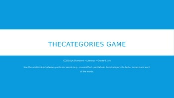The Categories Game
