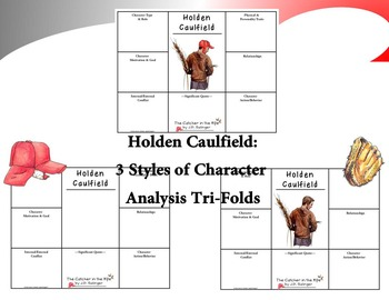 The Catcher in the Rye Character & Literary Element Analysis Tri-Folds