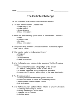 The Catholic Challenge (world history)