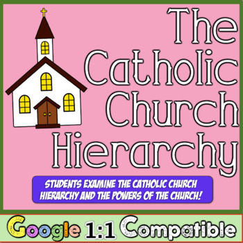 Catholic Church Hierarchy & the Powers of the Church! Fun Graphic Organizer!