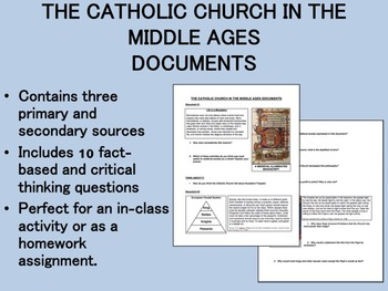 The Catholic Church in the Middle Ages Documents - Global/World History