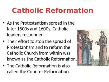 The Catholic Counter Reformation Lesson