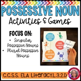 The Cat's Meow Possessive Noun Activities