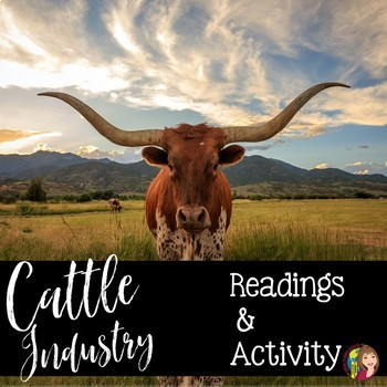 The Cattle Industry in Texas Reading and Activity