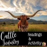 The Cattle Industry in Texas Reading and Activity for Texas History 7th Grade