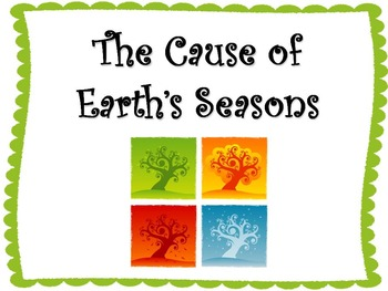 The Cause of Earth's Seasons PowerPoint Presentation