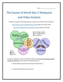 The Causes of World War 1- Webquest and Video Analysis with Key