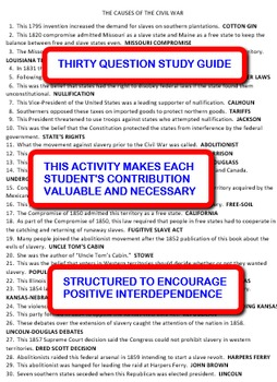 The Causes of the Civil War: Interdependent Share-Sheets Activity