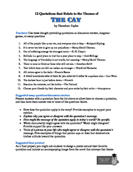 The Cay: 12 Theme-Related Quotations + Teaching Ideas
