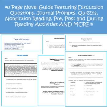 The Cay 40 Page Novel Guide