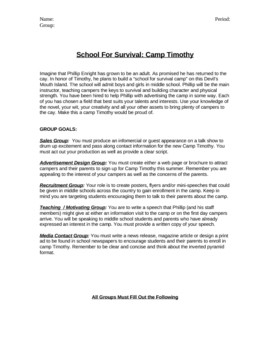 The Cay: A School for Survival Project