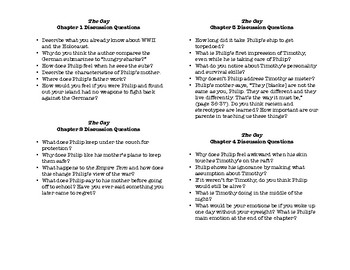 The Cay- Chapter Discussion Questions