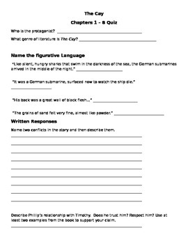 The Cay Chapters 1-8 Quiz