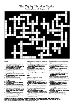The Cay - Chapters 4 - 19 Vocabulary Crossword