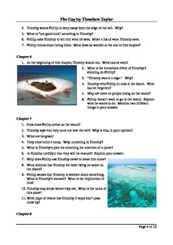 The Cay - Close Reading Questions