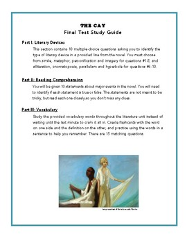 The Cay- Final Test Study Guide