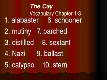 The Cay Introduction and Vocabulary PowerPoint