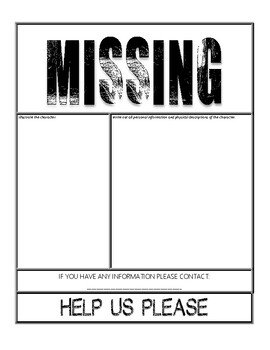 The Cay Missing Person Report by Janique LaFrance   TpT