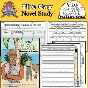 The Cay Novel Study (No Prep) grades 5-8 with Text dependent quizzes.  70+ Pages