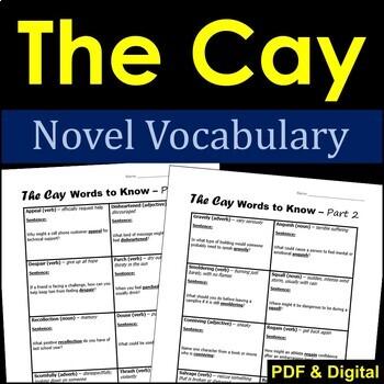 The Cay Novel Vocabulary