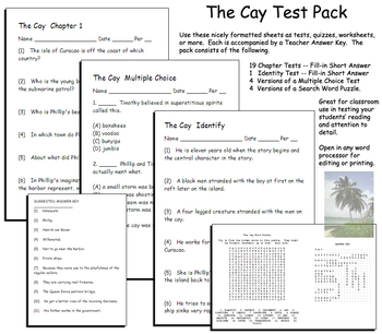 The Cay Test Pack  Theodore Taylor