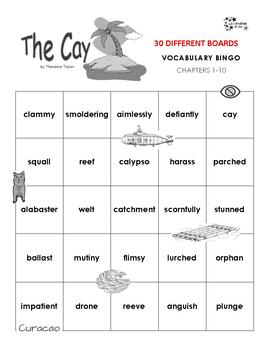 The Cay Vocabulary Bingo