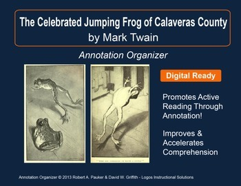 """""""The Celebrated Jumping Frog . . ."""" by Mark Twain: Annotation Organizer"""