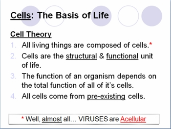 The Cell: Cell Theory and Basic Characteristics
